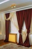 Interior con las cortinas Fotografía de archivo