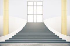 Interior con las escaleras Fotos de archivo libres de regalías