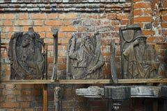 Interior con las esculturas góticas fotos de archivo libres de regalías
