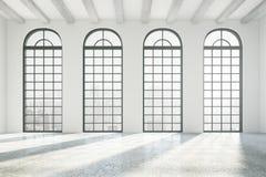 Interior con las ventanas stock de ilustración