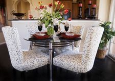 Interior con los vectores y las sillas Fotografía de archivo libre de regalías