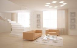 Interior con muebles Imagenes de archivo
