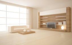Interior con muebles Foto de archivo libre de regalías