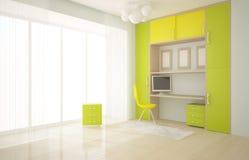 Interior con muebles Imágenes de archivo libres de regalías