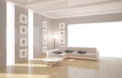Interior con muebles Imagen de archivo libre de regalías
