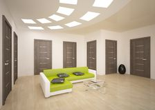 Interior concept with doors Royalty Free Stock Photography
