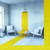Interior conceptual stock de ilustración