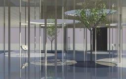 Interior of conceptual modern building Stock Photo