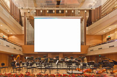 Interior of a concert hall Stock Image