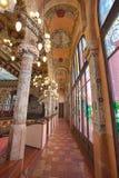 Palau de la Musica interior, Barcelona, Spain, 2014 stock photo