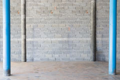 interior concrete block wall background Stock Photography