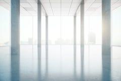 Interior with concrete columns Royalty Free Stock Photo