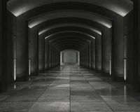 Interior concrete vault Royalty Free Stock Images