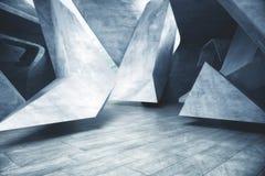 Interior concreto abstracto Imágenes de archivo libres de regalías