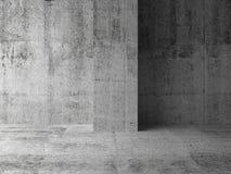 Interior concreto abstracto oscuro vacío del sitio Fotos de archivo libres de regalías