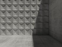 Interior concreto 3d con la esquina de la sombra Imagen de archivo libre de regalías