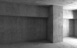 Interior concreto 3d rinden la ilustración stock de ilustración