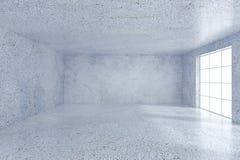Interior concreto de la oficina del grunge moderno con la pared vacía representación 3d Imagen de archivo libre de regalías