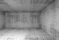 Interior concreto de la sala de exposición subterráneo 3d Fotografía de archivo