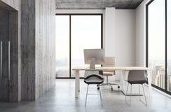 Interior concreto do escritório Imagem de Stock