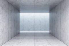Interior concreto en blanco del espacio, representación 3d ilustración del vector