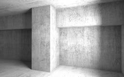 Interior concreto ggray vacío del sitio 3d abstracto Imagenes de archivo