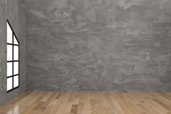Interior concreto vacío del sitio en la representación 3D Imagenes de archivo