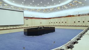 Interior of conference hall stock footage
