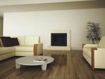 Interior confortável moderno Fotografia de Stock Royalty Free