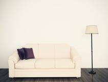 Interior confortável moderno com rendição 3d Foto de Stock