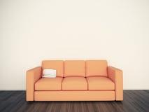 Interior confortável moderno com rendição 3d Fotografia de Stock