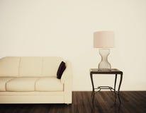 Interior confortável moderno com rendição 3d Foto de Stock Royalty Free