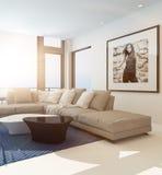 Interior confortável moderno da sala de visitas ilustração do vetor