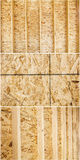Interior construction new walls building wooden osb sheeting Stock Photos