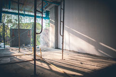 Interior construction site sunlight and space Royalty Free Stock Photography