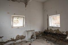 Interior constructivo dañado Imagen de archivo