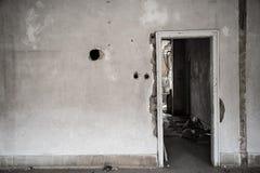 Interior constructivo dañado Foto de archivo libre de regalías
