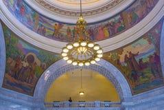 Interior constructivo del capitolio del estado de Utah imagen de archivo
