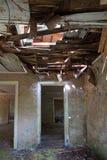 Interior constructivo destruido Fotografía de archivo