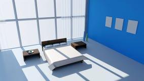 Interior contemporáneo del dormitorio Fotos de archivo