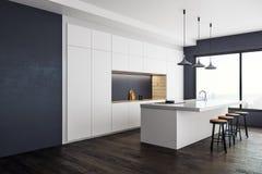 Interior contemporáneo del estudio de la cocina Fotografía de archivo libre de regalías