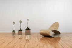 Interior contemporáneo elegante de la sala de estar Imagen de archivo