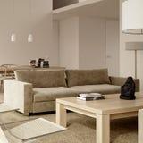 Interior contemporáneo minimalista amarillento stock de ilustración