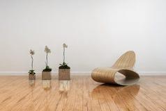 Interior contemporâneo à moda da sala de visitas Imagem de Stock