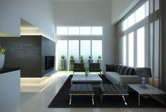 Interior contemporâneo Imagem de Stock Royalty Free
