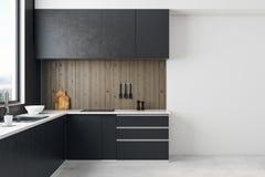 Interior contemporâneo da cozinha Fotografia de Stock Royalty Free