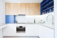 Interior contemporâneo da cozinha Imagens de Stock Royalty Free
