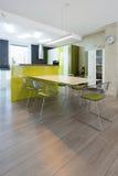 Interior contemporâneo da cozinha Foto de Stock Royalty Free