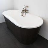 Interior contemporary of white bathroom Royalty Free Stock Image