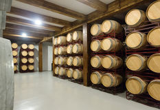 Interior of  contemporary winery Royalty Free Stock Image